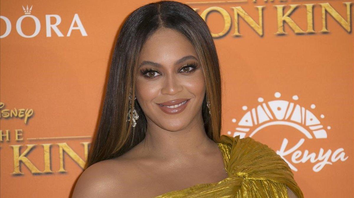 Beyoncé, en la presentación de 'El rey león', el pasado mes de julio en Londres.