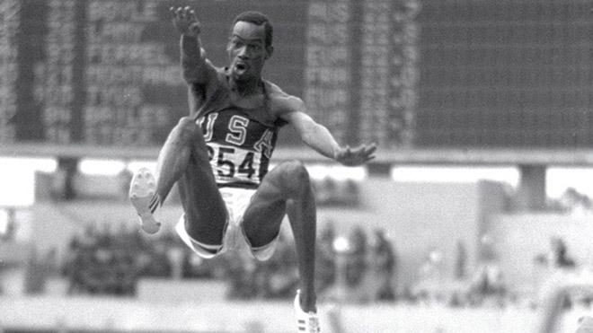 Bob Beamon en lasJuegos Olímpicosde Mexico 1968