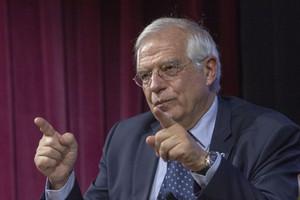 El ministro español de Asuntos Exteriores, Josep Borrell, en Nueva York.