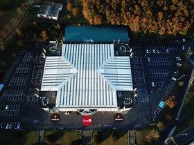 Imagen aérea de la pista del Breogán.
