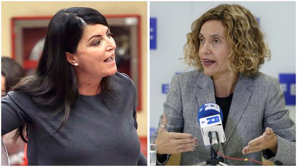 La presidenta del Congreso, Meritxell Batet, ha expulsado este martes a la secretaria general del grupo de Vox, Macarena Olona, tras llamarle al orden por tres veces después de una trifulca con Cs.