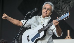 Caetano Veloso, durante su concierto en el Primavera Sound.