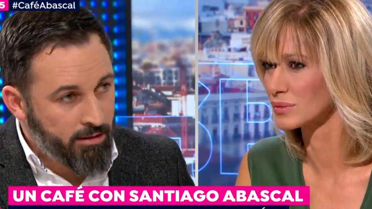 """Susanna Griso también choca con Santiago Abascal por su """"poca sensibilidad"""" con la violencia de género"""