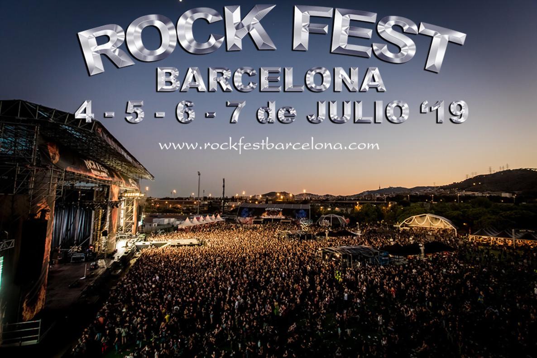 Cartel del Rock Fest Bcn 2019.