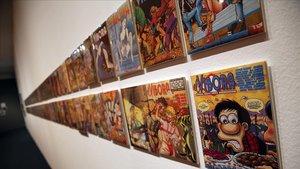 Casi un centenar de portadas de 'El Víbora'se muestran en la exposiciónsobre los 40 años de la revista en el MNAC.