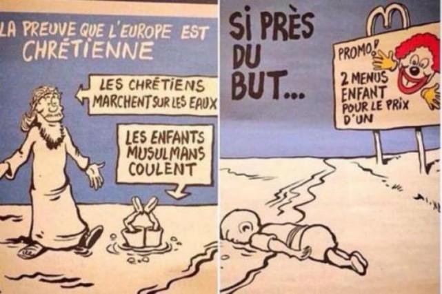 'Charlie Hebdo' ironiza sobre la muerte del pequeño Aylan