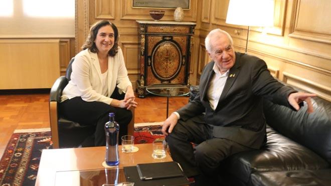 Colau y Maragall se reúnen para abordar los presupuestos de Barcelona.