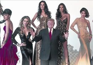 Donald Trumpo, en el 2011, convarias exmisses Universo.