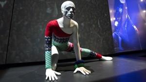 Imagen de la exposición sobre David Bowie en Bolonia.