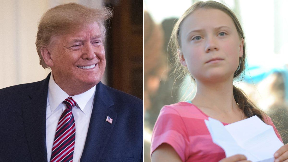 Donald Trump y Greta Thunberg.