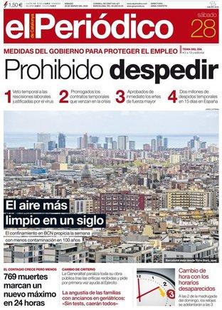 Prensa de hoy: Las portadas de los periódicos del sábado 28 de marzo del 2020