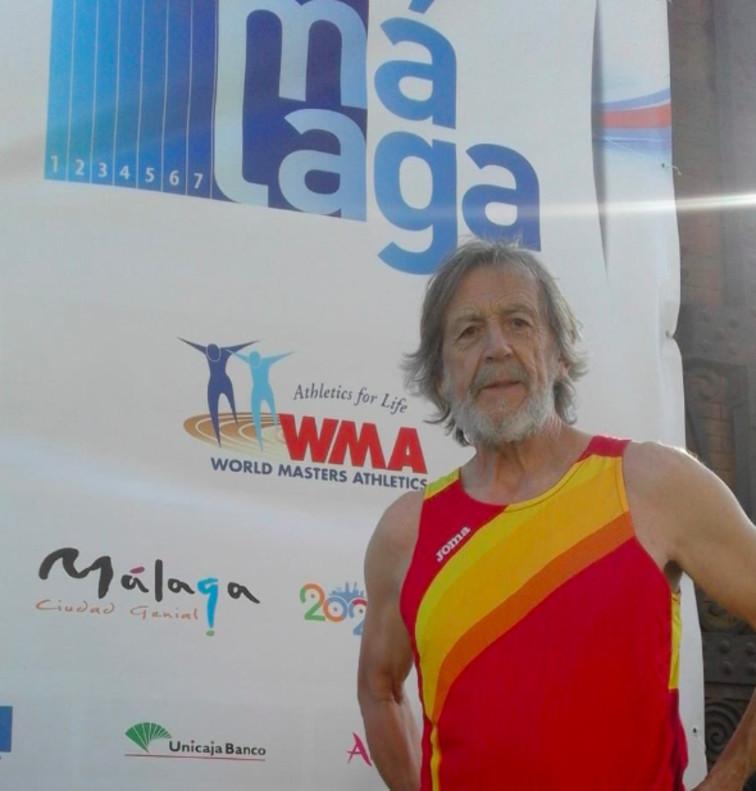 Emiliano Moro, miembro del Club Atletisme Gavà, en el Mundial de Atletismo Máster de Málaga
