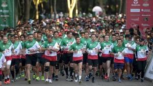 Enrique Peña nieto en la salida de quinta edición de la carrera Molino de Rey.
