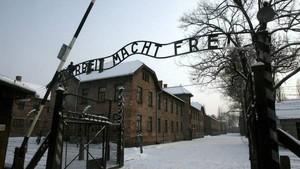 Entrada al campo de concentración de Auschwitz.