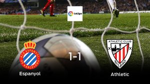 El Espanyol y el Athletic solo suman un punto (1-1)
