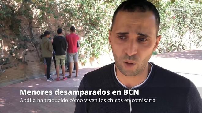 Abdila, un ciudadano marroquí residente en Barcelona, ha traducido para EL PERIÓDICO la experiencia de los menores que pernoctan en la comisaría de Ciutat Vella.