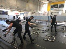 Sant Andreu de la Barca carrega contra Salut per no utilitzar el seu hospital de campanya muntat per la Guàrdia Civil