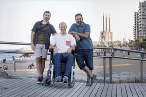 De izquierda a derecha, Frederic Lista, Raúl Sánchez y Guillermo Cruz.