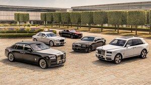 Modelos de la gama Rolls Royce.