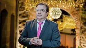 El presidente de la Junta de Extremadura, Guillermo Fernandez Vara, durante el mensaje de fin de año.