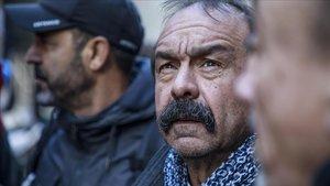 El secretario general del sindicato CGT, Philippe Martinez, en un acto de protesta este viernes en París.