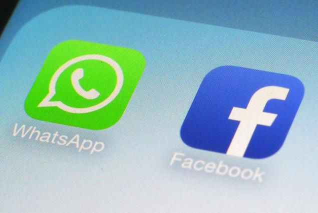 Iconos de las aplicaciones de Facebook y WhatsApp.