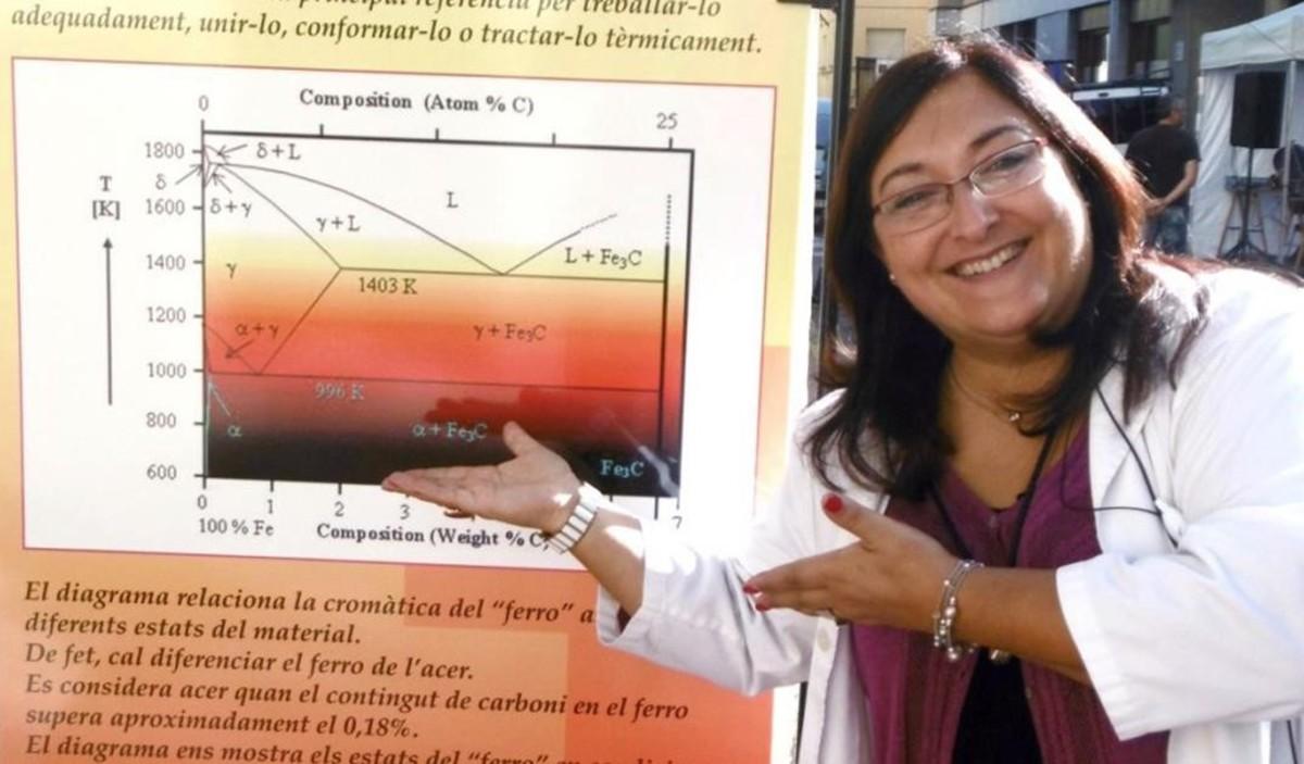 La profesora Núria Salán, galardonada con el premio Mujer y Tecnología, de la Fundación Orange.