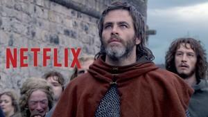 Imagen promocional de El rey proscrito, la nueva película de Netflix.