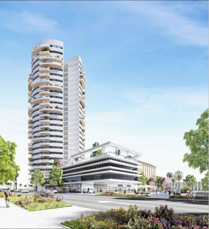 Imagen virtual de la torre vista desde la ronda de Barceló.