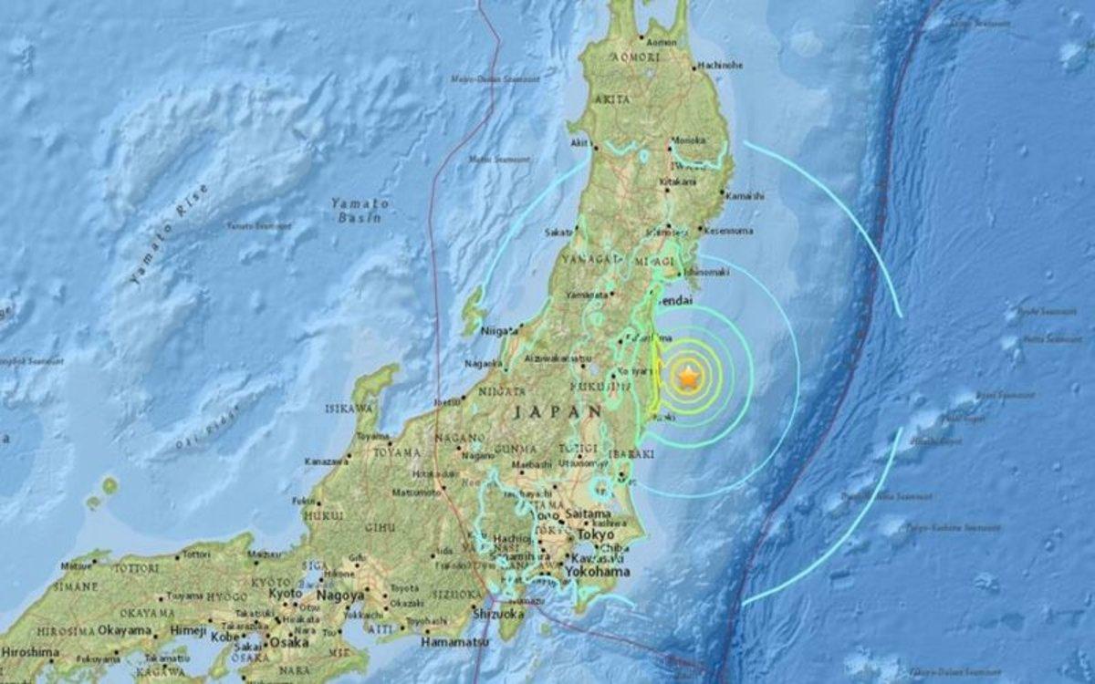 Un terremotoen Japón.