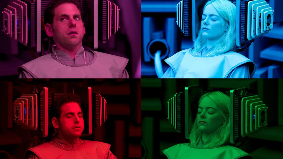 Jonah Hill y Emma Stone, en una imagen promocional de Maniac, de Netflix