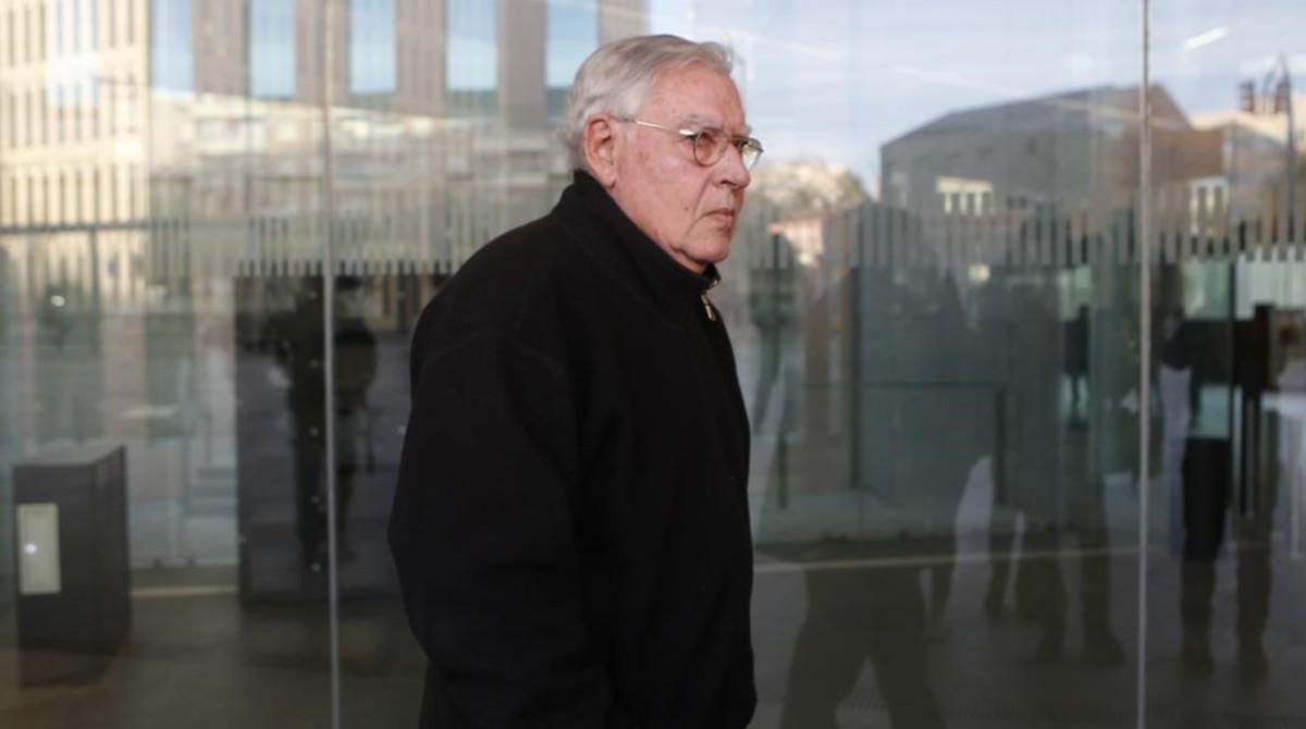 Jordi Montull, a su llegada a una de las sesiones del juicio por el caso Palau.