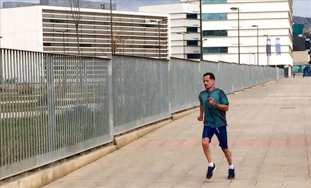 José Esteban Montiel, durante un entrenamiento.