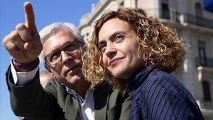 Josep Fèlix Ballesteros y Meritxell Batet, el pasado 13 de abril en Tarragona.