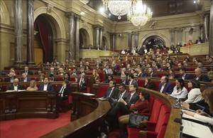 El pleno del Parlament.