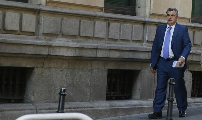El juez Ismael Moreno se dirige a la Audiencia Nacional, en una imagen de septiembre del 2014.