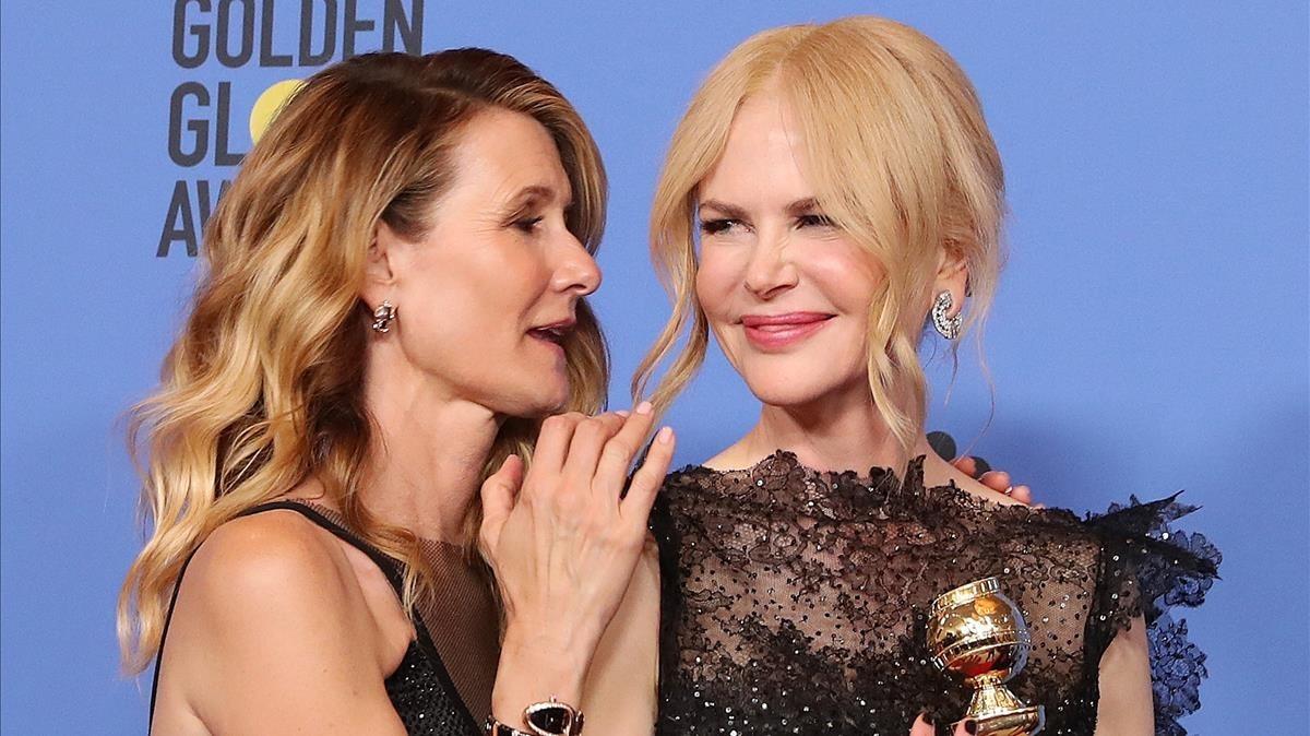 Laura Dern junto a Nicole Kidman.