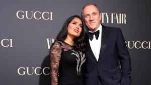 Francois-Henry Pinault y su esposa Salma Hayek.