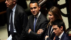 El líder del Movimiento Cinco Estrellas, Luigi di Maio, en la Camera de los Diputados