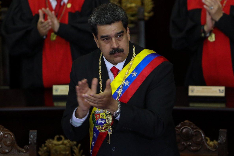 Nicolas Maduro asiste a la ceremonia de apertura al año judicialen CaracasVenezuela. EFE Cristian Hernandez