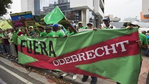 Manifestación contra la corrupción en Santo Domingo.