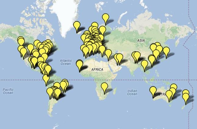 Mapa de la Via Catalana al exterior