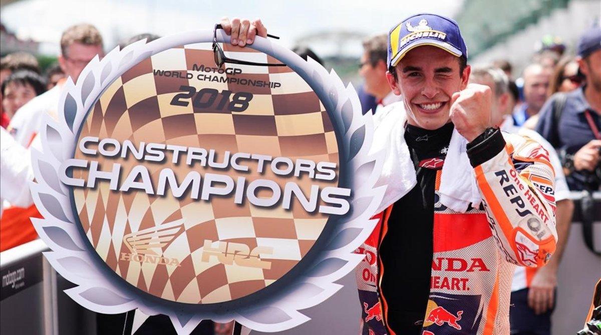 Marc Márquez ha logrado, en Malasia, su 9ª victoria del año y ha regalado a Honda su título 24 de constructores.