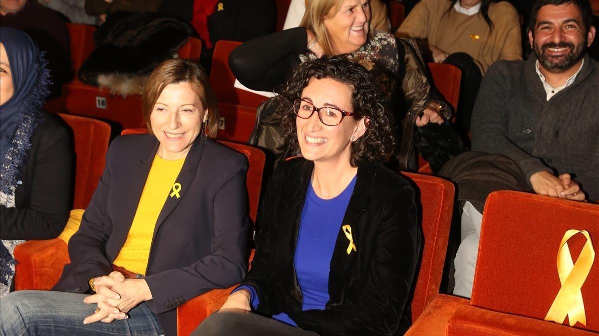 Marta Rovira y Carme Forcadell.