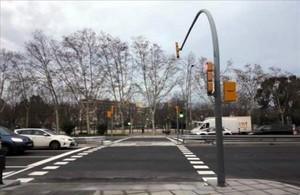 La Meridiana estrena un nuevo paso en estacion de Sant Andreu Arenal