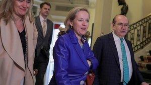 La ministra de Asuntos Económicos y vicepresidenta tercera del Gobierno, Nadia Calviño, el pasado 9 de marzo en Madrid.