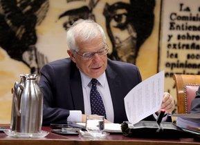 GRAF4485 MADRID, 25/10/2018.-El ministro de Asuntos Exteriores, Josep Borrell, durante su comparecencia ante la Comisión de Asuntos Exteriores del Senado para explicar las líneas generales de su actuación al frente del Departamento. EFE/Zipi