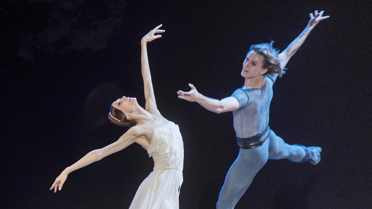 Un momento de la actuación de la bailarina ucraniana Svetlana Zajarova, en Peralada.