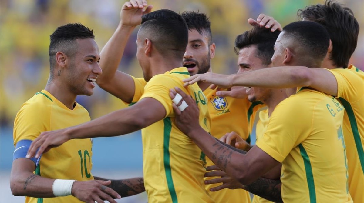 Neymar, capitán del equipo olímpico brasileño.