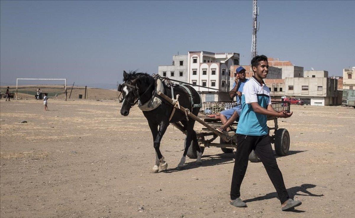 Niños en una ciudad al norte de Marruecos.